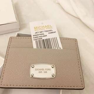 Michael Kors jet set travel leather cardholder