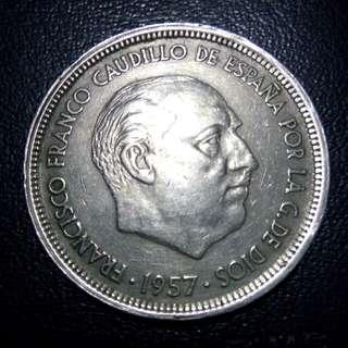 50 PTAS spanyol 1957