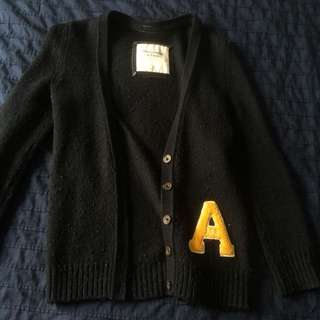 A&F Varsity Knitted Jacket