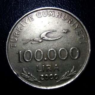 100.000 lira turkye