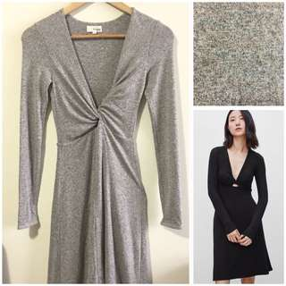 Aritzia Wilfred Free XS Paige Dress in Heather Quarry