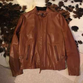 On Board Of Japan - Leather Biker Jacket