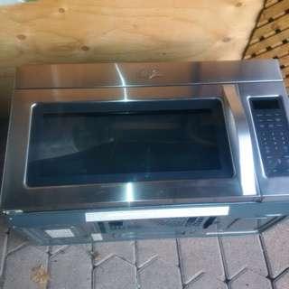 Whirlpool stainless steel microwave range hood