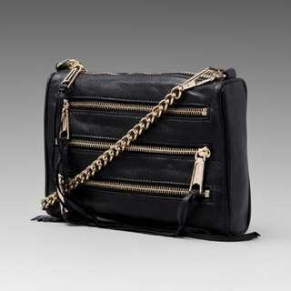 REBECCA MINKOFF 5-Zip crossbody bag (Authentic)