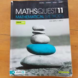 Jacaranda MathsQuest Year 11 Math Methods textbook