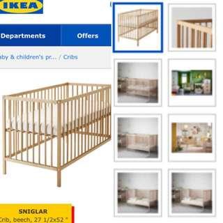Ikea Baby Cot/crib/playpen