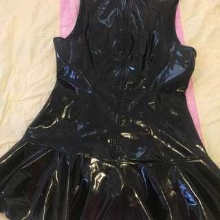 PVC black dress