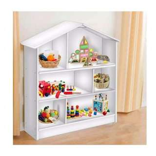 Wooden House Toy Shelf
