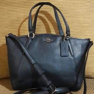 Coach Kelsey mini navy metalic