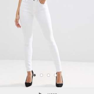 ASOS optic white jeans