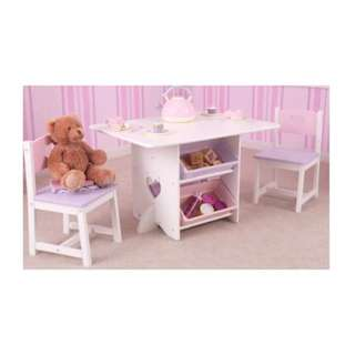 Wooden Dainty Table and Chair Set