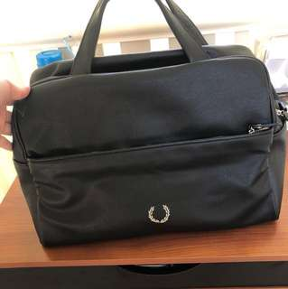 Fred Perry Black Overnight / Holdall / Gym Bag