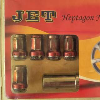 Tyres Heptagon nuts plus lock nuts