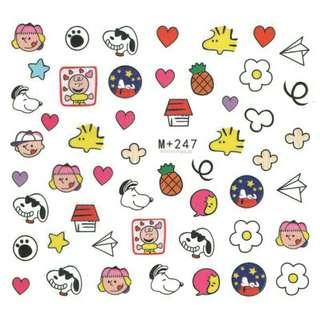Snoopy water decal / nail sticker / sticker kuku