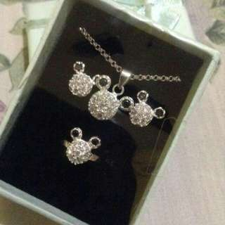 Mickey mouse inpired set 925 silver