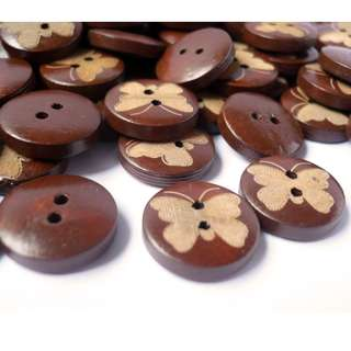 WB10129 - 15mm butterfly crafted wood buttons, wooden buttons (10 pieces)  #craft