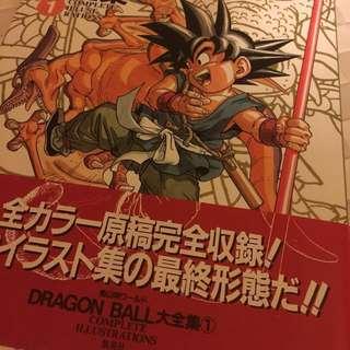 龍珠日本1995年日版絕版彩色畫冊 Dragon Ball