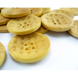 WB10132 - 23mm weaving pattern wood buttons, wooden buttons (10 pieces)  #craft