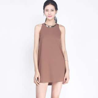 Fayth mila brown dress