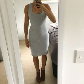 Kookai grey mini midi dress size 1, 6-8