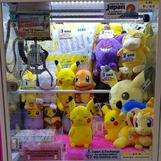 "Pokemon Claw Machine Game @ Bugis Street ""Pick a Prize"""