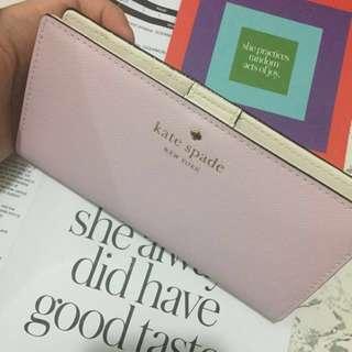 [現貨580]美國官網直運:Kate Spade MIKAS POND STACY 淺粉紅色長銀包 生日禮物 女朋友 情人節