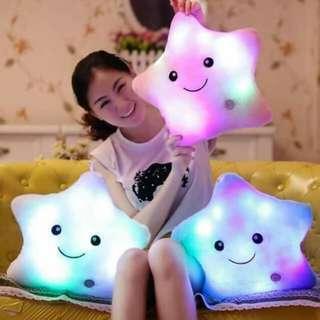 7lights star and heart pillow
