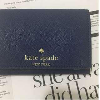 美國官網現貨:Kate Spade MIKAS POND CHRISTINE 深寶藍色短銀包 生日禮物 女朋友