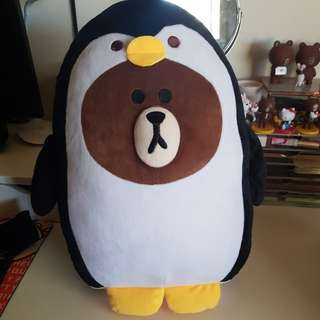Line friends brown penguin