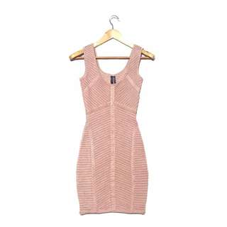 GUESS BY MARCIANO Old Rose bandage knit Dress