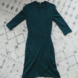 Topshop green tulip dress