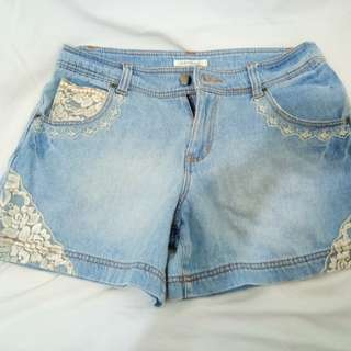 Axes Femme Hotpants lace pearl
