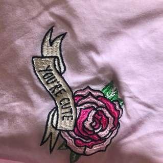 pink rose shirt