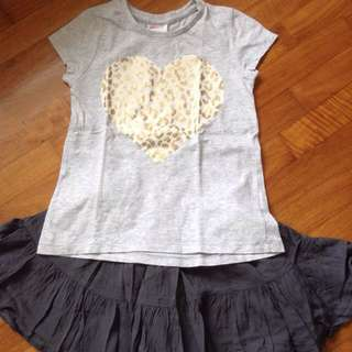 Seed Heritage Tshirt With Skirt