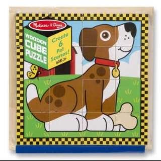BN Melissa & Doug Pet Wooden Cube Puzzle