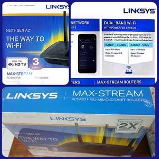 Linksys max stream wifi router