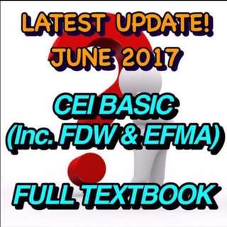 CEI KAH LATEST OCTOBER 17 VERSION MOCK AND BASIC TEST PAPER + Full Course Material