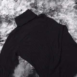 Black Trendy Turtle Neck