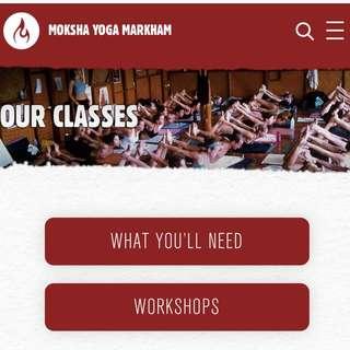 Moksha hot yoga class pass