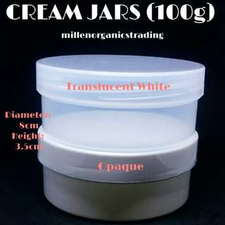Cream Tub Jars