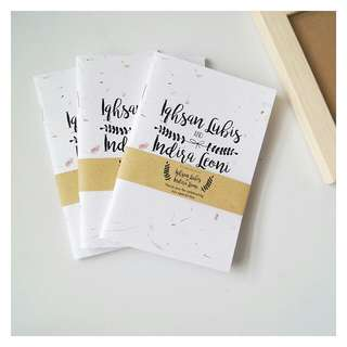Wedding souvenir pernikahan notebook softcover sederhana