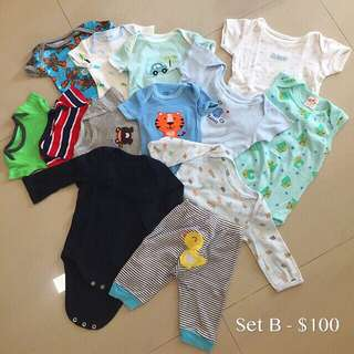 Baby Boy Cloths Bundle (0-3 Mth)