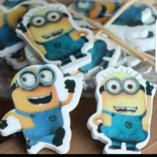 Minion Cake/Cupcake/Muffin Toppers for Party Decoration