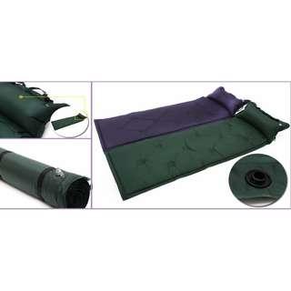 [自由拼接自動充氣戶外便攜床墊] 自由可拼接成雙人或多人墊,輕鬆拆卸拼接,只需擰開床的氣咀蓋子,便會自動充氣,充氣後擰緊蓋子即可,放氣後放入附贈的收納袋,收納和攜帶方便