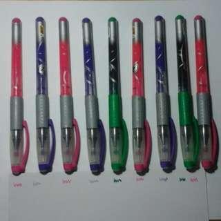 Price slashed fm $8.80 to $5!! 9 colourful pens (BIC Z4 Fine 0.7mm)