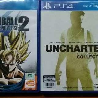 PS4 龍珠Xenoverse 2/UNCHARTED合輯(有三集)/GUNDAM VS.