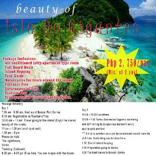Isla De Gigantes Package Tour