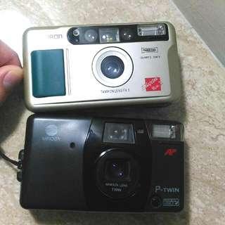 日本帶回 Minolta P-Twin Tamron Mini 傻瓜相機 底片 底片機 底片相機 街拍兩台合售