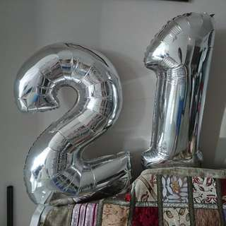 """Number Foil Balloons 21 23"""""""