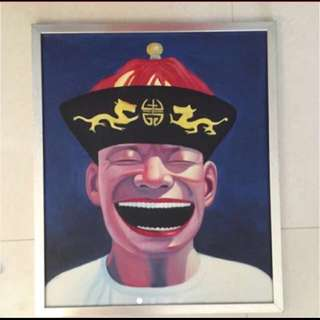 Big Head Concept Painting / Laughing Men / Art Poster